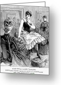 Intoxicated Greeting Cards - Drinking, 1889 Greeting Card by Granger
