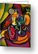 Summertime Drink Greeting Cards - Drinks Greeting Card by Leon Zernitsky