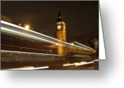 City Lights Greeting Cards - Drive by Ben - England Greeting Card by Mike McGlothlen