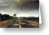 Cloudscape Greeting Cards - Drive Safely Greeting Card by Carlos Caetano