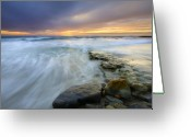 San Diego California Greeting Cards - Driven before the storm Greeting Card by Mike  Dawson