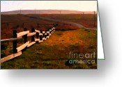 Francis Digital Art Greeting Cards - Driving Down The Lonely Highway . Study 2 . Painterly Greeting Card by Wingsdomain Art and Photography