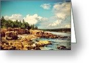 Picoftheday Greeting Cards - Driving On The Coast. #maine #acadia Greeting Card by Luke Kingma