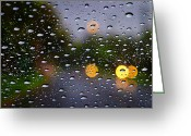 Raining Greeting Cards - Driving Rain Greeting Card by Tim Nichols
