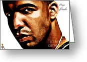 Nicki Minaj Greeting Cards - Drizzy Drake Greeting Card by The DigArtisT