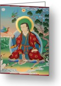 Thanka Greeting Cards - Drokben Khyecung Lotsawa Greeting Card by Sergey Noskov