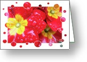 Flower Greeting Card Greeting Cards - Drops Upon Raindrops 4 Greeting Card by Carol Groenen