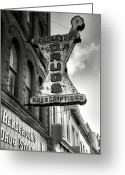 Old Street Photo Greeting Cards - Drug Store Sign Greeting Card by Steven Ainsworth