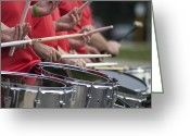 Drum Sticks Greeting Cards - Drum Corps Greeting Card by Mark Michel