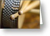 Drum Sticks Greeting Cards - Drum Sticks And Cabasa Greeting Card by Carla Overduin