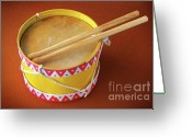 Handmade Greeting Cards - Drum Toy Greeting Card by Carlos Caetano