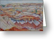 Drumheller Greeting Cards - Drumheller Badlands Greeting Card by Kelly McNeil
