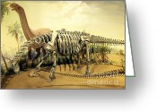 Drumheller Greeting Cards - Drumheller Dinosaur Greeting Card by Ellen Cotton