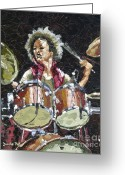 Perfumer Greeting Cards - Drummer Greeting Card by Dumba Peter