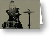 Drummer Greeting Cards - Drummer Greeting Card by Irina  March