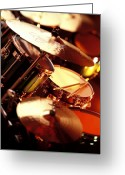 Drum Sticks Greeting Cards - Drums Greeting Card by Robert Ponzoni