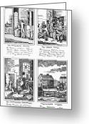 Intoxicated Greeting Cards - Drunkards Progress, 1826 Greeting Card by Granger