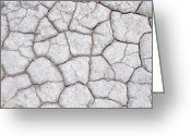 Mud Greeting Cards - Dry And Cracked Ground Pattern Greeting Card by Konrad Wothe