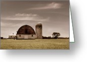 Barn Greeting Cards - Dry Earth Crumbles Between My Fingers and I Look to the Sky for Rain Greeting Card by Dana DiPasquale