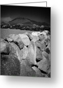 Granite Walls Greeting Cards - Dry Stone Wall Slieve Binnian Mourne Mountains Ireland Greeting Card by Joe Fox