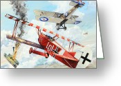 War Plane Greeting Cards - Du Doch Nicht Greeting Card by Charles Taylor