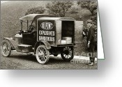 Brewing Greeting Cards - Du Pont Co. Explosives Truck Pennsylvania Coal Fields 1916 Greeting Card by Arthur Miller