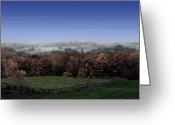 Autumn In The Country Photo Greeting Cards - Duality  Greeting Card by Andrea Kollo