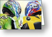 Motogp Greeting Cards - Duality Greeting Card by Ian Hemingway