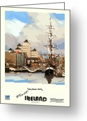 Jeanie Greeting Cards - Dublin  Liffey Docks Greeting Card by Joe O Donnell
