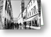 Featured Greeting Cards - #dubrovnik #b&w #edit Greeting Card by Alan Khalfin