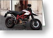 Poster Prints Greeting Cards - Ducati Motor Cross Greeting Card by John Rizzuto