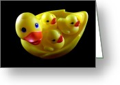 Lynnette Johns Greeting Cards - Duck Family Greeting Card by Lynnette Johns