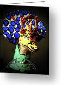 Bright Sculpture Greeting Cards - Duckosaurus Greeting Card by Afrodita Ellerman