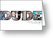 White Russian Greeting Cards - Dude Abides Greeting Card by Tom Roderick