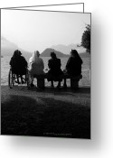 Invalid Greeting Cards - Due chiacchiere sul Lago Greeting Card by Riccardo Maffioli