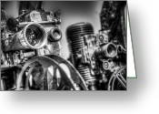 Black And White Pictures Greeting Cards - Dueling Projectors Greeting Card by Scott Norris