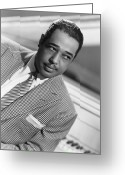 Black Jacket Greeting Cards - Duke Ellington (1899-1974) Greeting Card by Granger