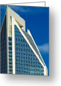 City Scapes Framed Prints Greeting Cards - Duke Energy Tower Greeting Card by Patrick Schneider