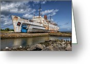 Docks Greeting Cards - Duke of Lancaster  Greeting Card by Adrian Evans