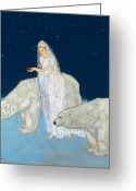 Polar Bear Greeting Cards - Dulac: The Ice Maiden, 1915 Greeting Card by Granger