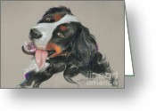 Family Pastels Greeting Cards - Duncan Greeting Card by Mary Machare