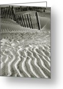 Sand Fences Photo Greeting Cards - Dune Patterns II Greeting Card by Steven Ainsworth