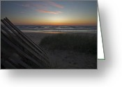 Lake Michgan Greeting Cards - Dunes And Beach At Dawn Greeting Card by Sven Brogren