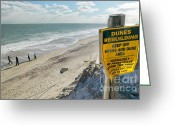 Nauset Beach Greeting Cards - Dunes Rebuilding Keep off Grass and Dune Area Cape Cod Greeting Card by Matt Suess