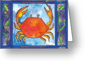 Pike Seafood Market Greeting Cards - Dungeness Crab Greeting Card by Pamela  Corwin