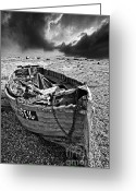 Pebbles Greeting Cards - Dungeness Decay Greeting Card by Meirion Matthias