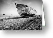 Wreck Greeting Cards - Dungeness Ship Wreck Greeting Card by Nina Papiorek