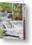 Waterfalls Greeting Cards - Dunn River Falls Greeting Card by Jeff Kolker