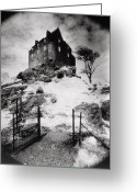 Silver Gelatin Greeting Cards - Duntroon Castle Greeting Card by Simon Marsden