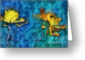 Bleu Greeting Cards - Duo Daisies - 01c2t5dp01e Greeting Card by Variance Collections